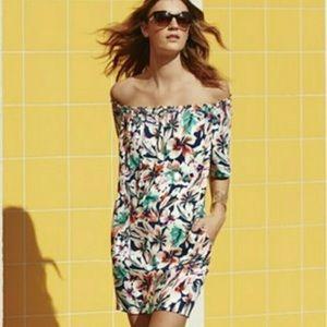 EUC Ella Moss Tahiti Garden Off Shoulder Dress